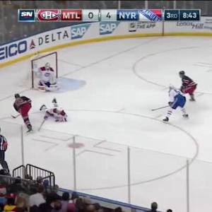 Dustin Tokarski Save on Chris Kreider (11:19/3rd)