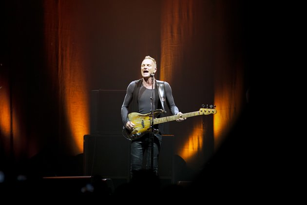 With some 30 years of experience under his belt working the music circuit, Sting knew exactly how to work his 9,000-strong audience. (Photo courtesy of Sony Pictures)