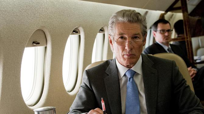 """This film image released by Roadside Attractions shows Richard Gere in a scene from """"Arbitrage."""" (AP Photo/Roadside Attractions, Myles Aronowitz)"""