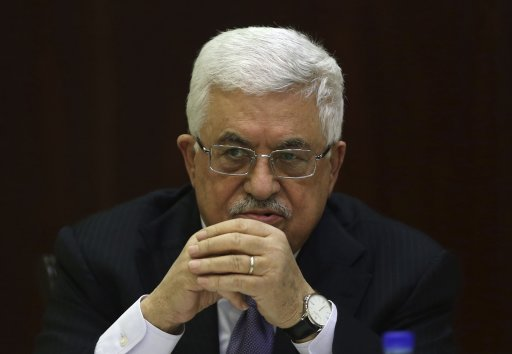 Palestinian President Abbas attends a Palestinian Liberation Organization (PLO) executive committee meeting in Ramallah