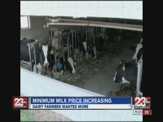 Minimum Milk Prices incease