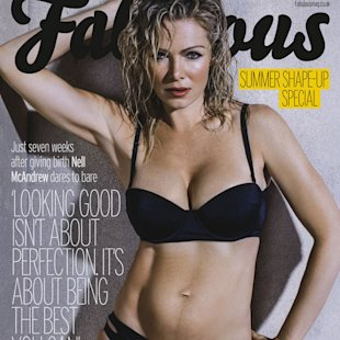 Nell McAndrew bares all for the first time since giving birth in March [Fabulous]