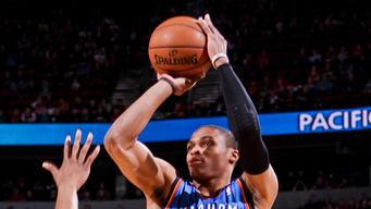 Westbrook has 33 and Thunder beat Portland 106-90