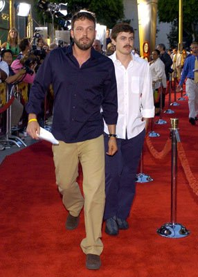 Ben Affleck and Casey Affleck at the Hollywood premiere of Universal Pictures' The Bourne Supremacy