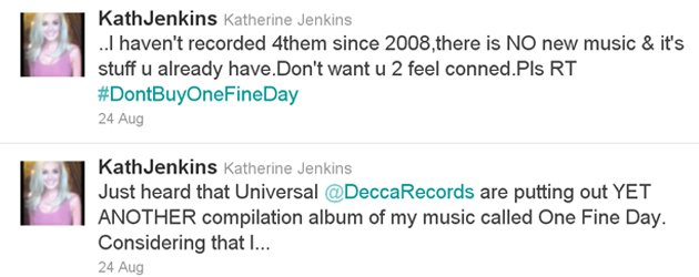 Katherine Jenkins twitter
