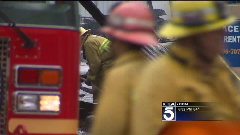 Responding Firefighters Discover Man on Fire at South El Monte Tire Shop