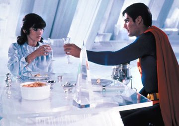 Christopher Reeve and Margot Kidder in Warner Brothers' Superman 2