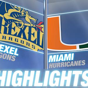 Drexel vs Miami | 2014-15 ACC Basketball Highlights