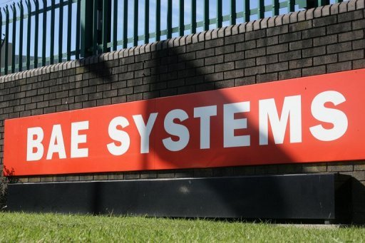 <p>The BAE Systems logo is pictured at the BAE Systems site in East Yorkshire in 2011. Austrian prosecutors filed a criminal complaint Friday against lobbyist Alfons Mensdorff-Pouilly, suspected of bribery and money laundering while working for the British aerospace giant BAE Systems.</p>