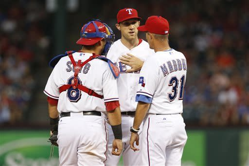 Smith, Colon lead Athletics past Rangers 9-2