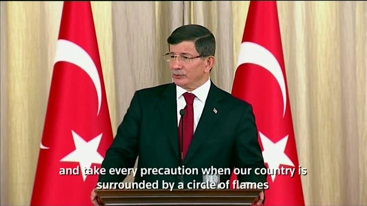 Davutoglu: Turkey has right to respond when airspace violated