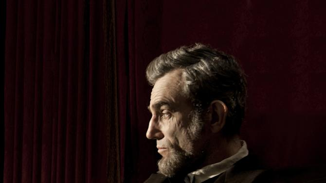 "FILE - This publicity film image released by Walt Disney Pictures shows Daniel Day-Lewis portraying Abraham Lincoln in the film ""Lincoln.""  Late prospects for Oscar contenders, include Steven Spielberg's ""Lincoln,"" Tom Hooper's ""Les Miserables,"" director Kathryn Bigelow's ""Zero Dark Thirty,"" and creator Peter Jackson's ""The Hobbit: An Unexpected Journey,"" the first in his three-part ""Rings"" prelude. (AP Photo/Disney-DreamWorks II, David James, File)"