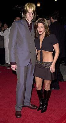 John Oszajca and Lisa Marie Presley at the Hollywood premiere of Paramount's Lucky Numbers