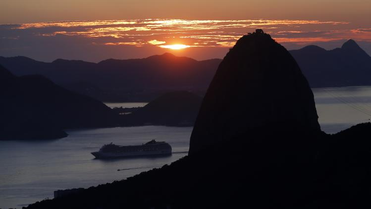 A view of the Sugar Loaf mountain in Rio de Janeiro