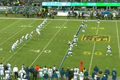 The Dolphins attempted an onside kick so bad it ended up in the fourth row