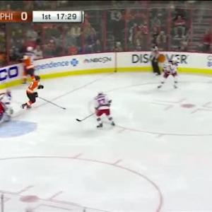 R.J. Umberger Hit on Dominic Moore (02:30/1st)