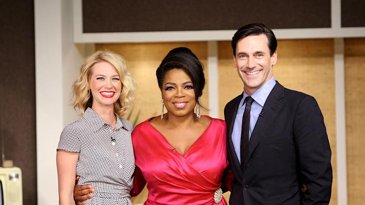 "Oprah hosts the cast of <a href=""/baselineshow/4732474"">""Mad Men""</a> during her trip back to the '60s on a special episode of ""The Oprah Winfrey Show"" on September 21, 2009."