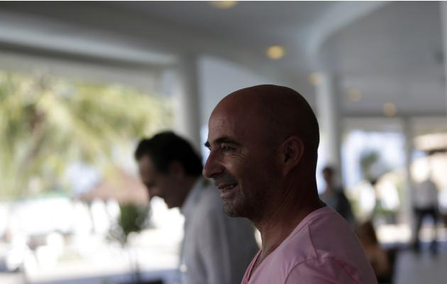 Chile's head coach Jorge Sampaoli is pictured at head of the 2014 World Cup draw at the Costa do Sauipe resort in Sao Joao da Mata, Bahia state