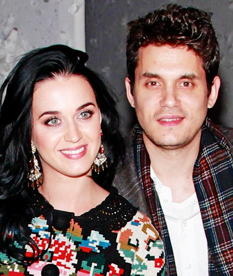 "John Mayer, Katy Perry Get Affectionate, ""Rock Out"" at Rolling Stones Concert"