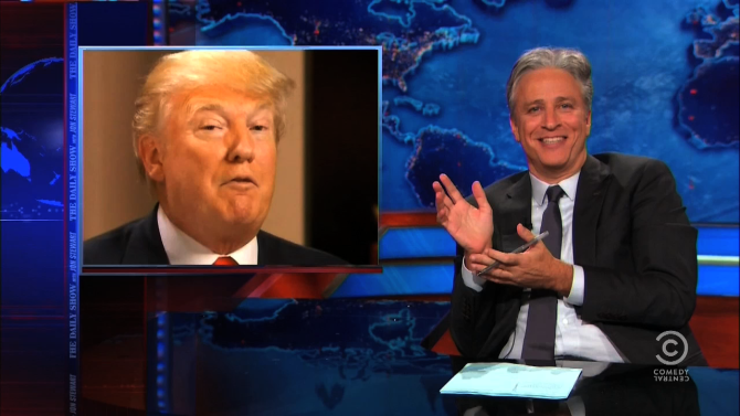 Jon Stewart Uses Donald Trump As Voice Of Reason