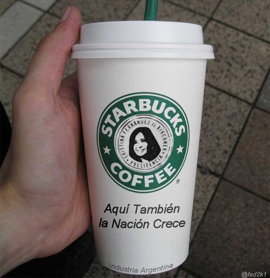 Repudio por el comunicado de Starbucks (foto: @fed2k1)