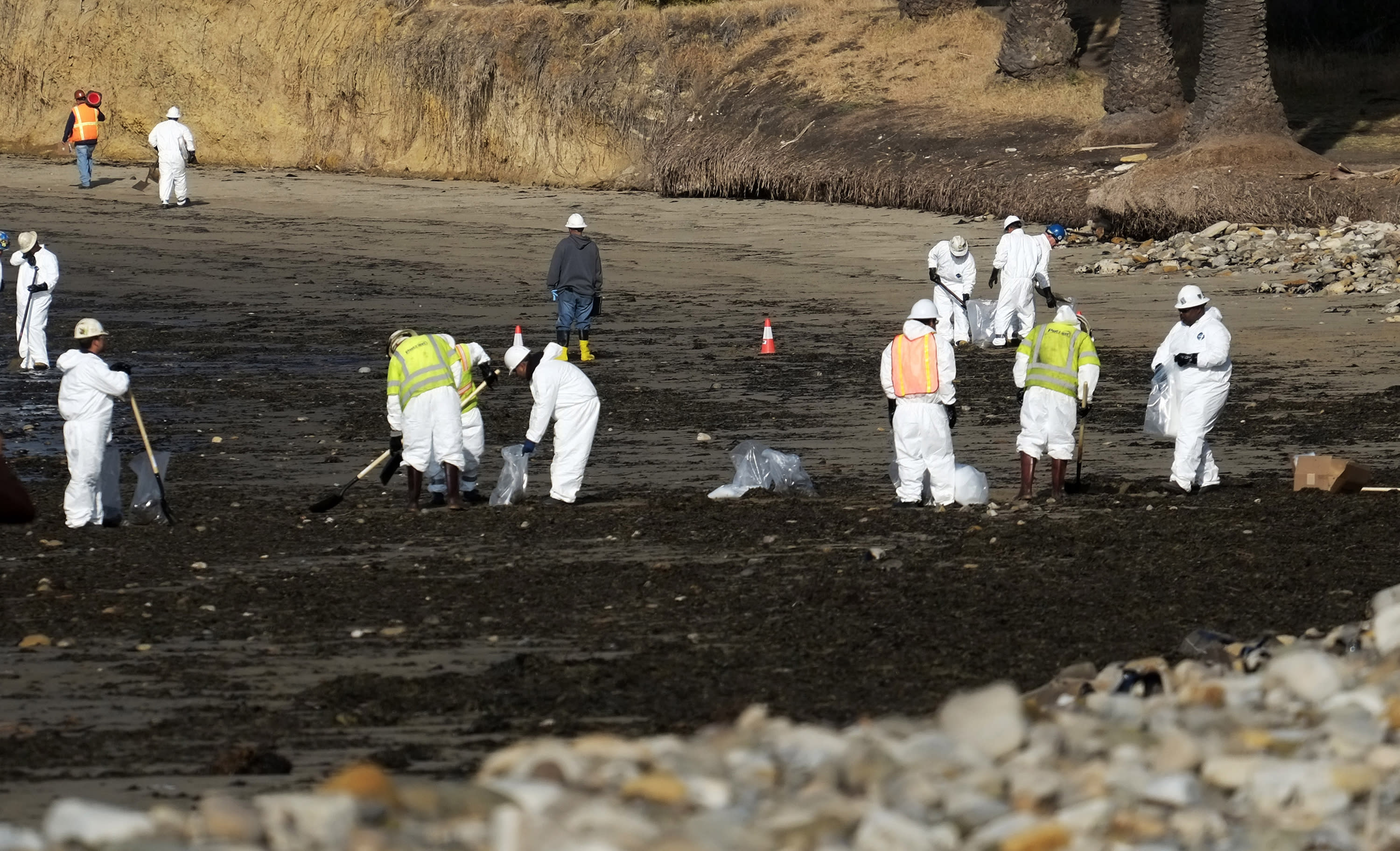 The Latest on California oil spill: Pipeline was at capacity
