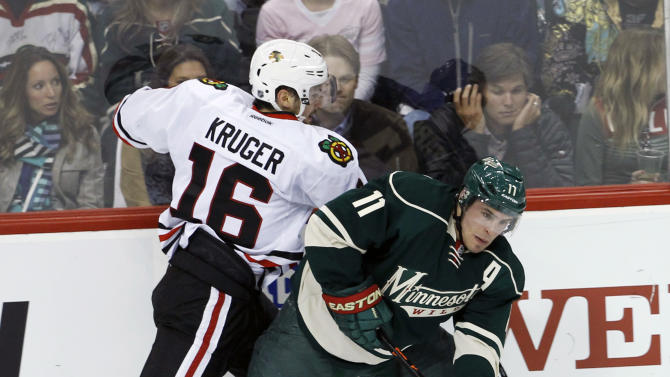 Wild jump back in series with 4-0 win over Hawks