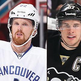 Daniel Sedin, Sidney Crosby and Steven Stamkos Getty Images