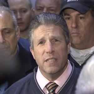 NY police union head blames mayor, protesters for officers' deaths