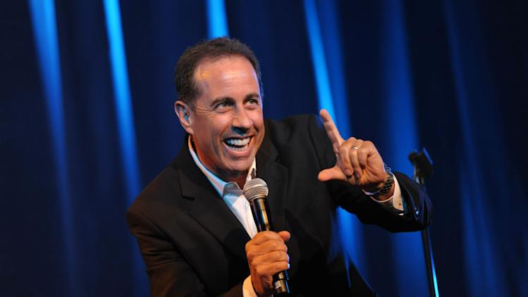 COMMERCIAL IMAGE - Jerry Seinfeld performs onstage at the David Lynch Foundation:  A Night of Comedy honoring George Shapiro at the Beverly Wilshire Hotel on Saturday June 30, 2012 in Beverly Hills, Calif. (Photo by John Shearer/Invision for David Lynch Foundation/AP Images)