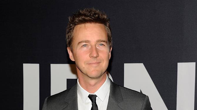 "FILE In this July 30, 2012 file photo, actor Edward Norton attends the world premiere of ""The Bourne Legacy"" at the Ziegfeld Theatre in New York. Norton, Jonah Hill, Snoop Dogg and several other stars are slated to play in a celebrity tournament of the popular online game ""Words With Friends"" for charity beginning Sept. 27, 2012. (Photo by Evan Agostini/Invision/AP, File)"