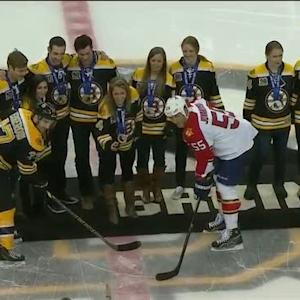 Boston Bruins honor New England Olympians