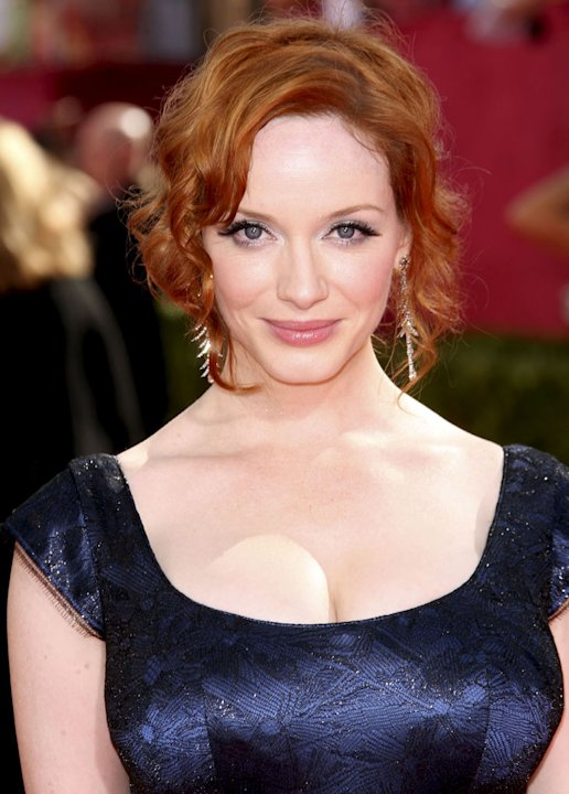 Christina Hendricks (&quot;Mad Men&quot;): Can kisses have curves? They probably would if they came from this voluptuous redhead. 