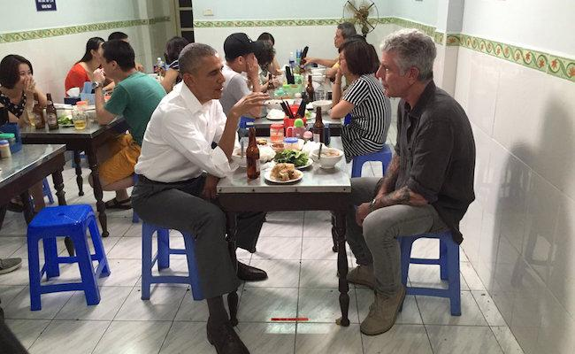Anthony Bourdain Treated President Obama To A $6 Dinner In Vietnam Last Night