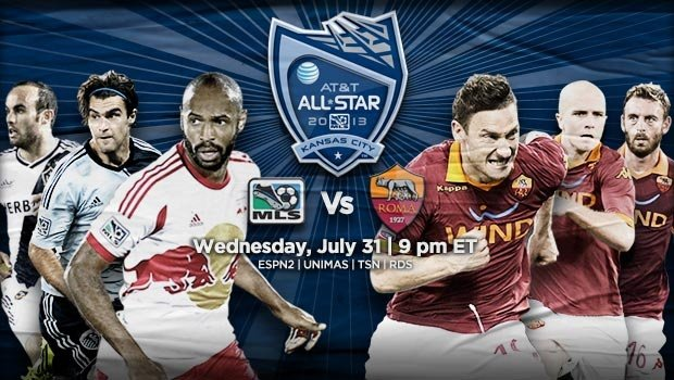 MLS All Stars vs AS Roma