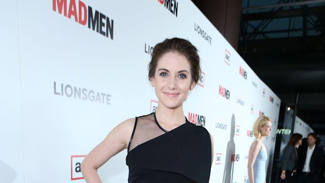 Alison Brie at the AMC Season 6 Premiere of Mad Men , on Wednesday, March, 20, 2013 in Los Angeles. (Photo by Alexandra Wyman/Invision for AMC/AP Images)