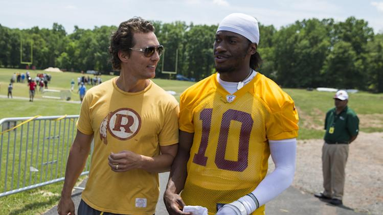 Redskins' RG3 enjoys a more tranquil offseason