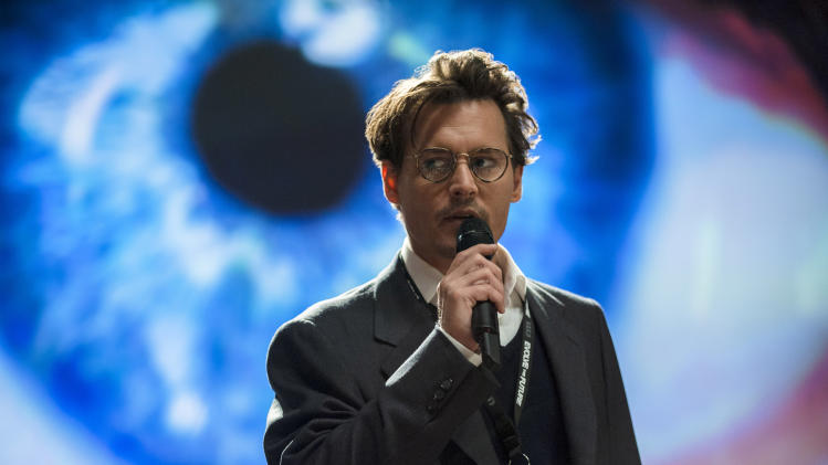 "This image released by Warner Bros. Pictures shows Johnny Depp in a scene from ""Transcendence."" (AP Photo/Warner Bros. Pictures, Peter Mountain)"