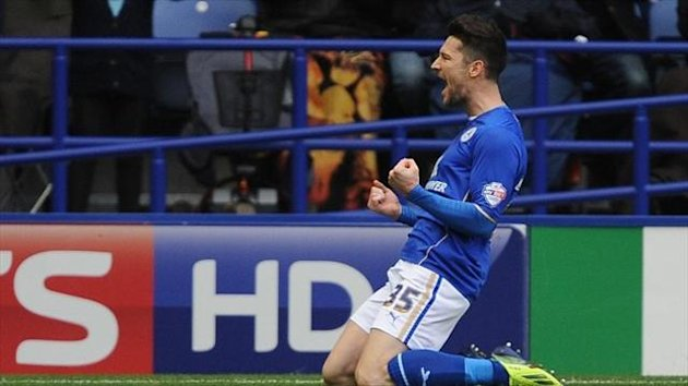 David Nugent's penalty helped Leicester return to the top