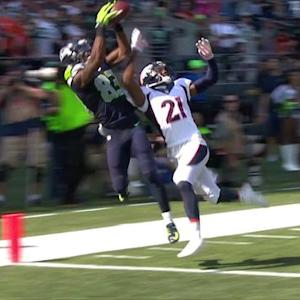 Seattle Seahawks quarterback Russell Wilson 39-yard touchdown pass to wide receiver Ricardo Lockette
