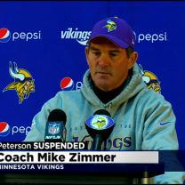 Vikings Coach Zimmer Addresses Peterson Suspension