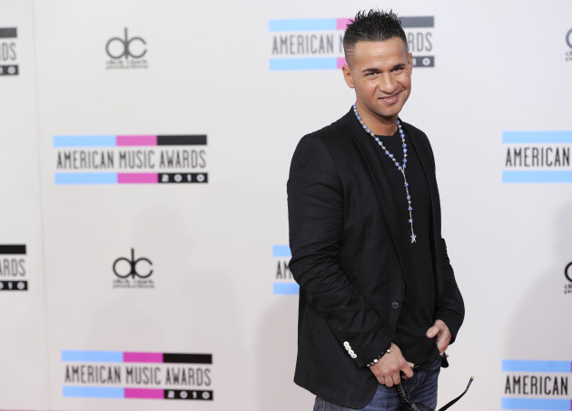 "Mike Sorrentino, also known as ""The Situation"", arrives at the 38th Annual American Music Awards on Sunday, Nov. 21, 2010 in Los Angeles."