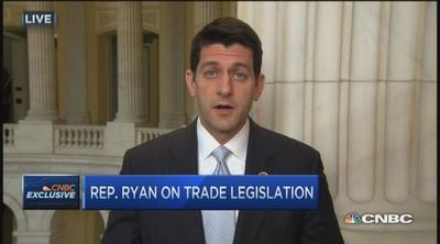 New trade bill puts US in driver's seat: Rep Ryan