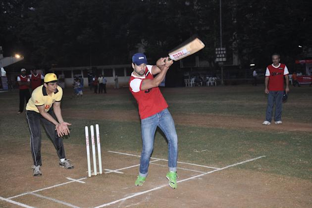 Celebs during the ITA Cricket match in Mumbai on Thursday, December 5th, 2013. (Photo: IANS)