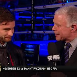 Chris Algieri interview with Jim Lampley
