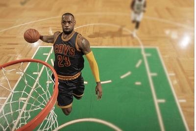 Nike Basketball took an incredible picture of LeBron's windmill dunk