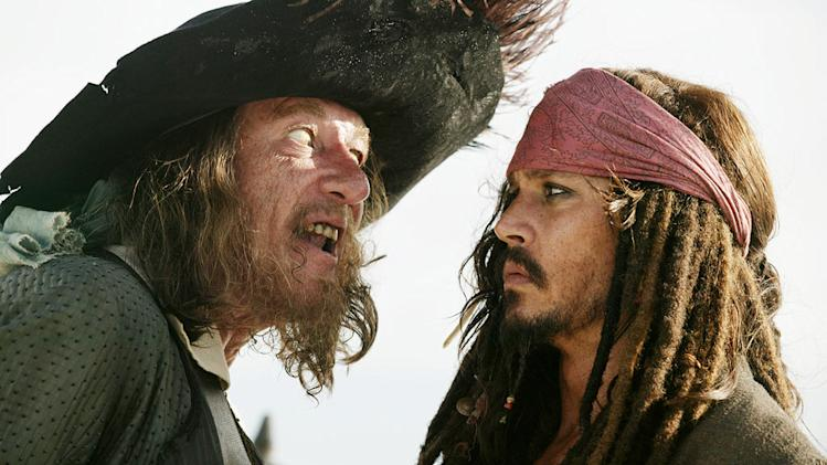 Pirates of the Caribbean At World's End 2007 Walt Disney Pictures Geoffrey Rush Johnny Depp
