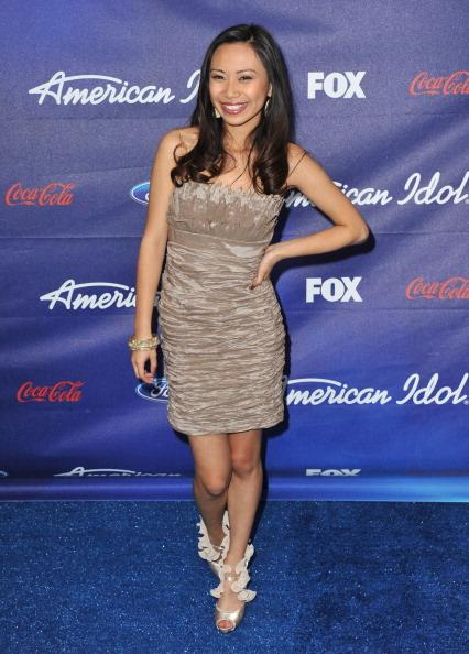 Jessica Sanchez arrives at the 'American Idol' Finalists Party at The Grove on March 1, 2012 in Los Angeles, California. (Photo by Jordan Strauss/WireImage)
