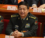 Newly-elected Chinese Defense Minister Chang Wanquan attends the 12th National People's Congress (NPC) at the Great Hall of the People in Beijing, on March 16, 2013