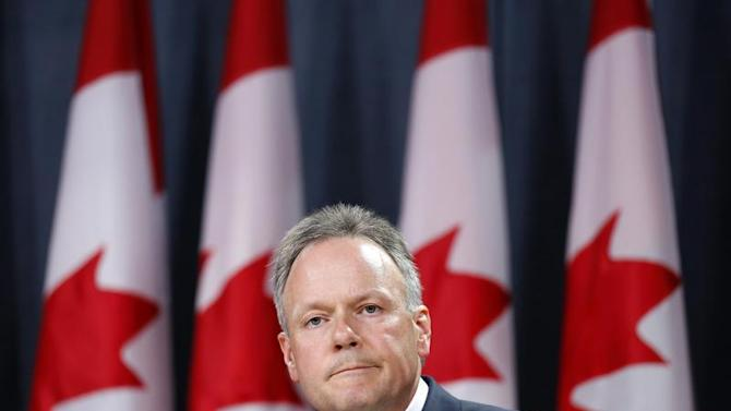 Bank of Canada Governor Poloz takes part in a news conference upon the release of the Monetary Policy Report in Ottawa